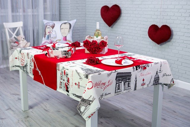 Set The Table Valentine S Day Napkin - xusenru / Pixabay